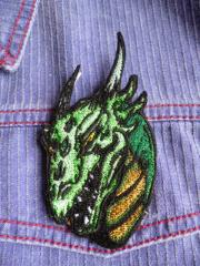 Shirt with Valley dragon embroidery design