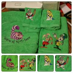 Alice in Wonderland embroidery designs