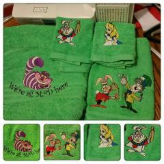Alice in Wonderland embroidery designs