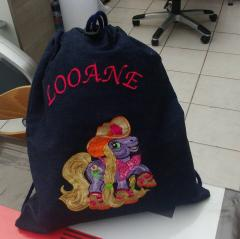 Bag with Little Pony Country Style embroidery design