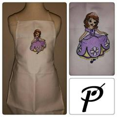 Dress with Sofia The First embroidery design