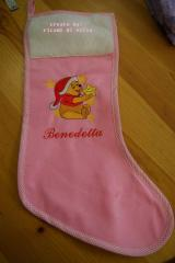 Sock with Winnie Pooh Before Christmas embroidery design