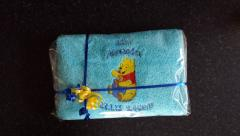 Towel with Winnie Pooh with honey embroidery design