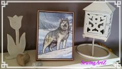 Huskies photo stitch free embroidery