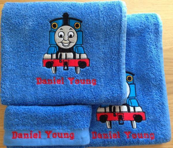 Towels with  Thomas the Tank Engine embroidery design