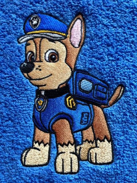 Chase embroidery design