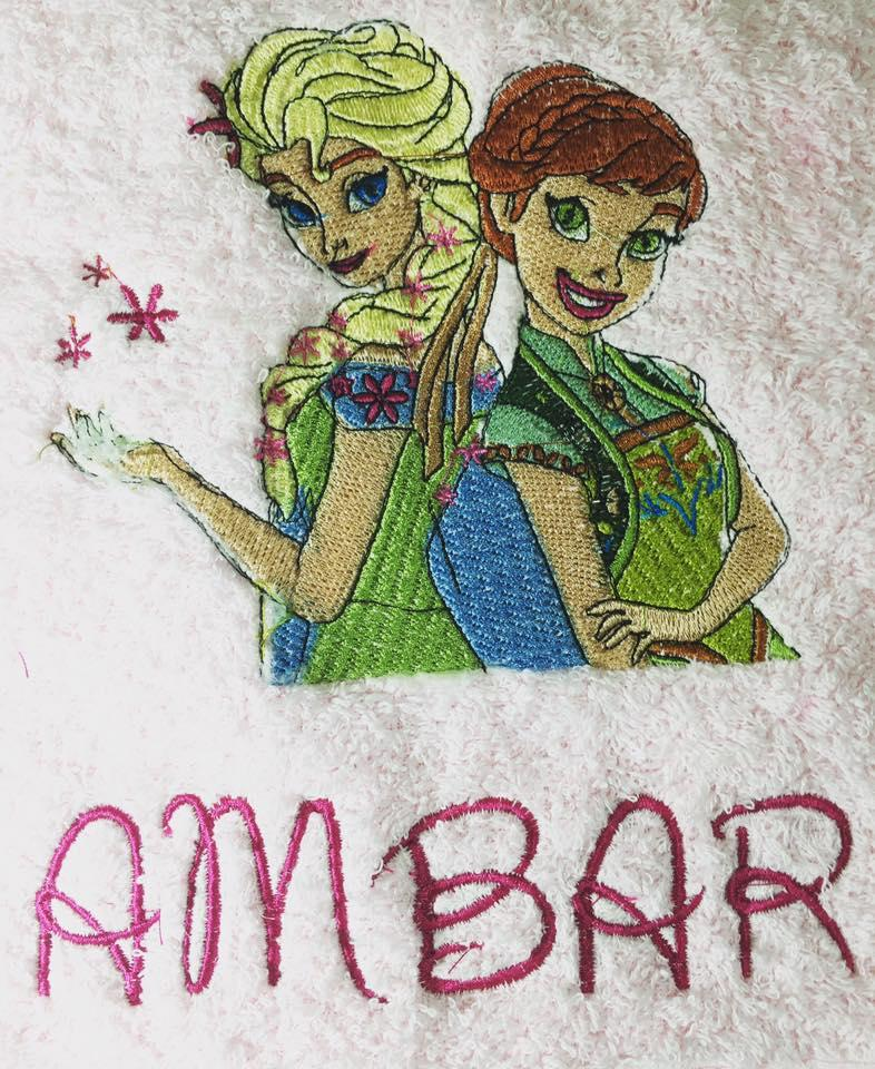 Sping in Arendelle embroidery design
