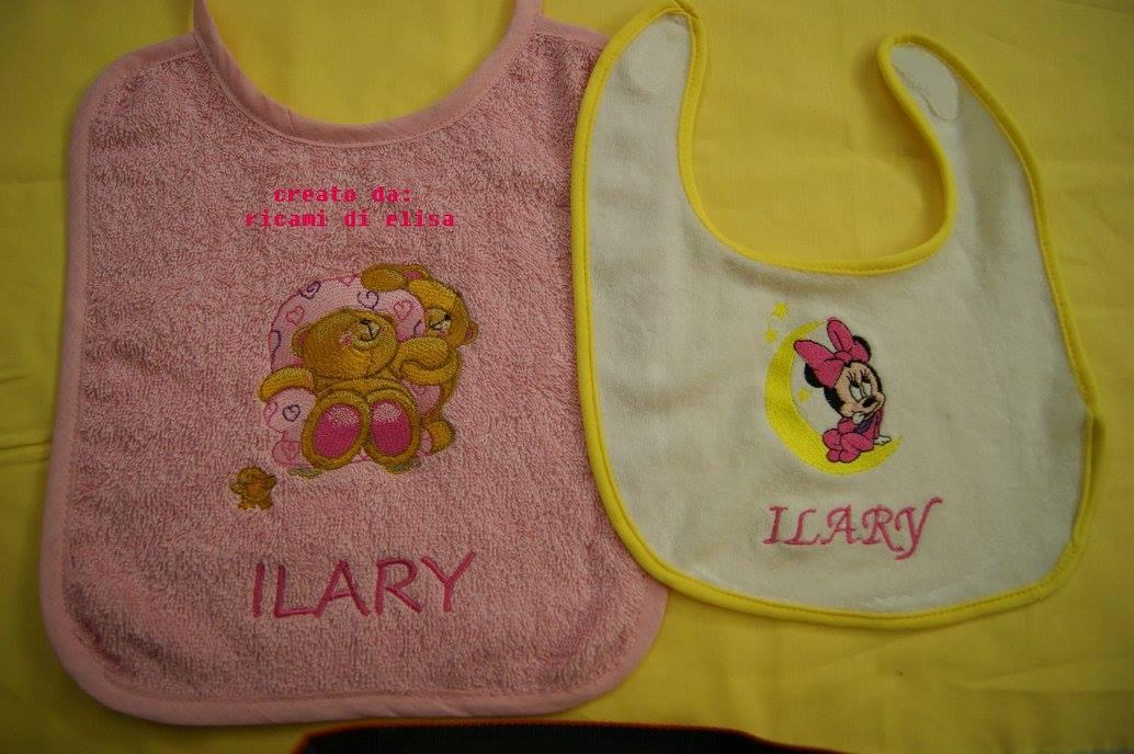 Baby bibs with Cartoon character embroidery design