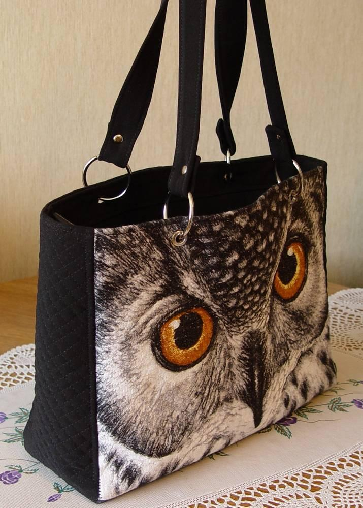 Embroidered bag with owl free design