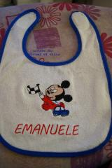 Baby bib Mickey Mouse Racing embroidery design