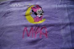 Minnie Mouse and moon embroidery design