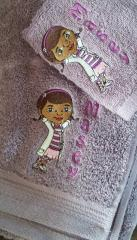 Towels with Doc McStuffins embroidery design