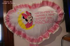 Baby cushion with Minnie Mouse and moon embroidery design