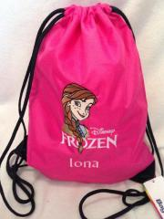 Backpack with Anna Frozen embroidery design