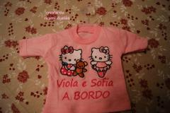 Baby shirt with Hello Kitty embroidery designs