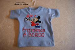Shirt with Mickey Mouse Racing embroidery design