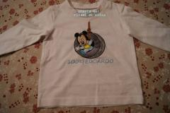 Shirt with Mickey Mouse play embroidery design