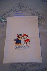 Bag with Paw Patrol embroidery designs