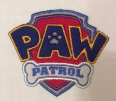 Paw Patrol logo embroidery design