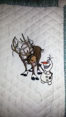 Sven and Olaf embroidery design
