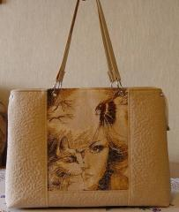 Bag with photo stitch free embroidery design