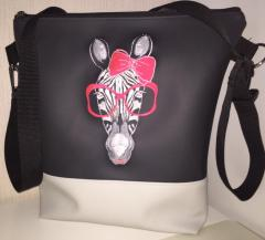Bag with Zebra glasses free embroidery