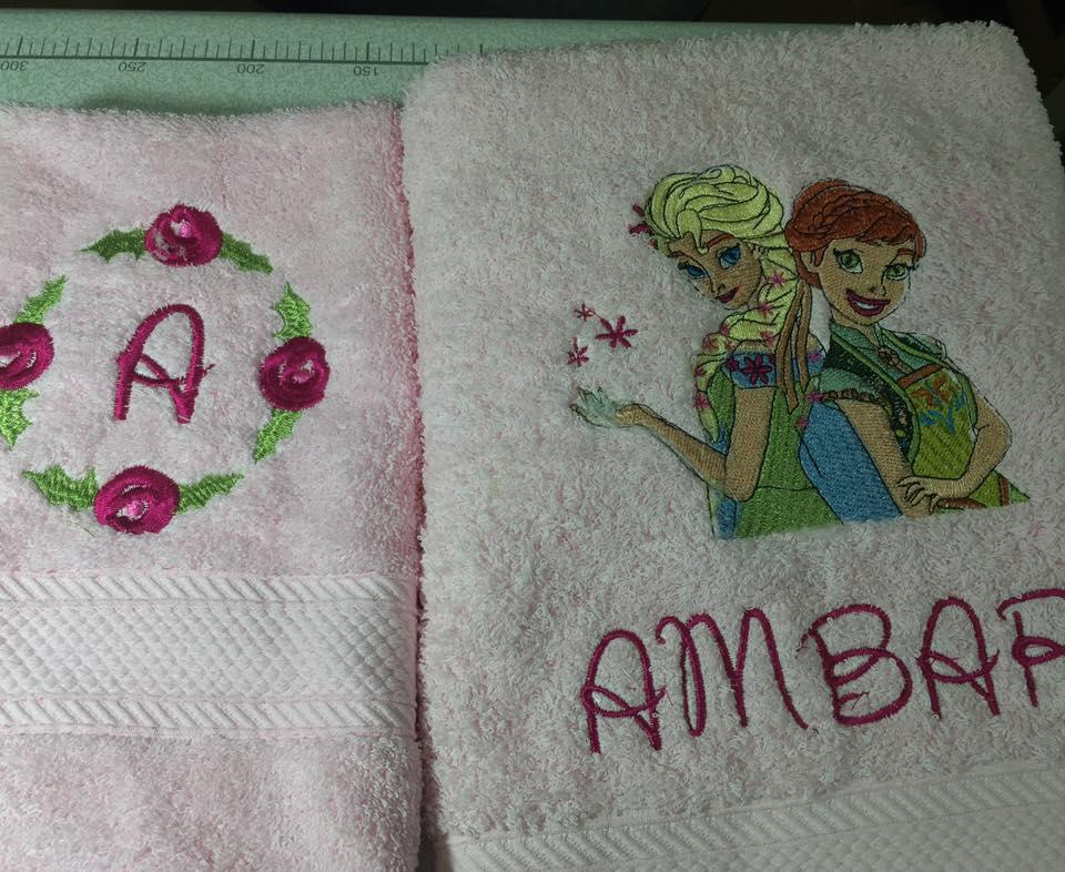 Towels with Sping in Arendelle embroidery design