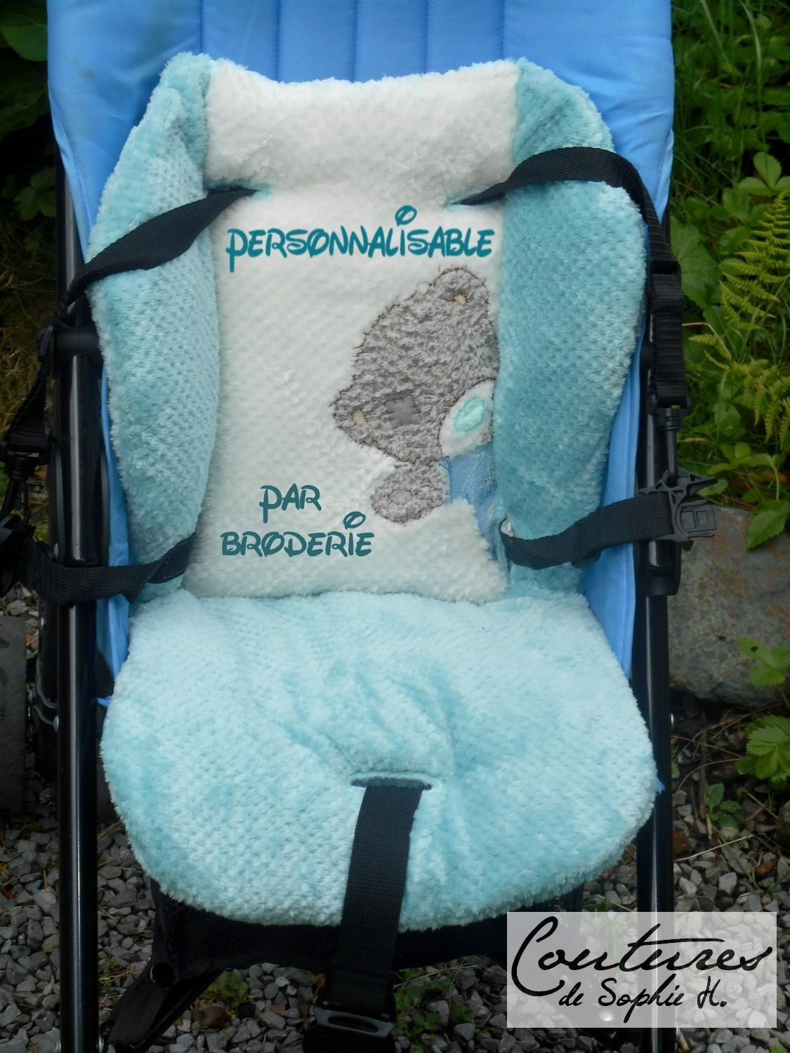 Reducer for stroller with Teddy bear embroidery design