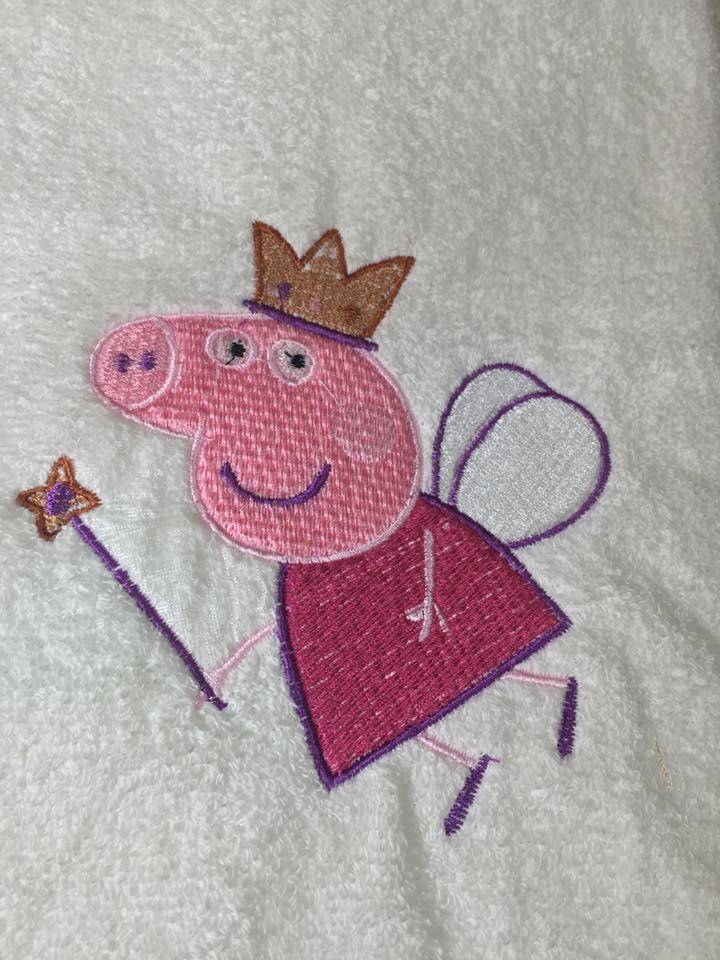 Peppa Pig Angel embroidery design