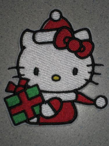 Hello Kitty Christmas embroidery design