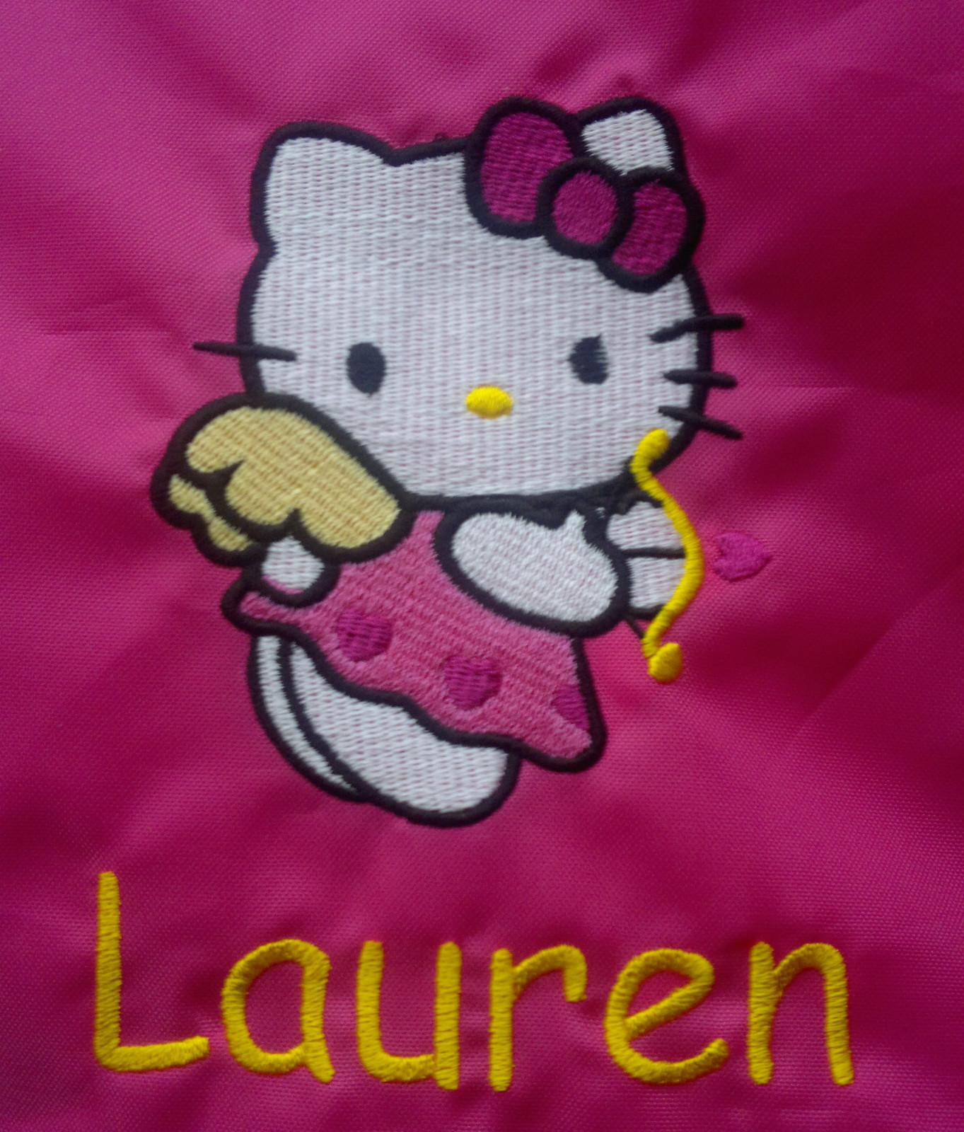 Hello Kitty Cupid embroidery design