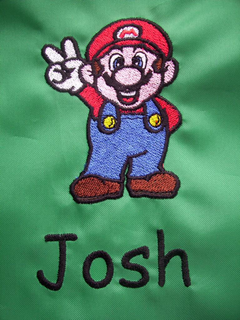 Super Mario machine embroidery design