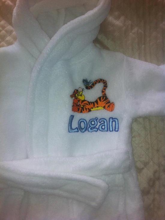 Pajama with Tigger Resting machine embroidery design