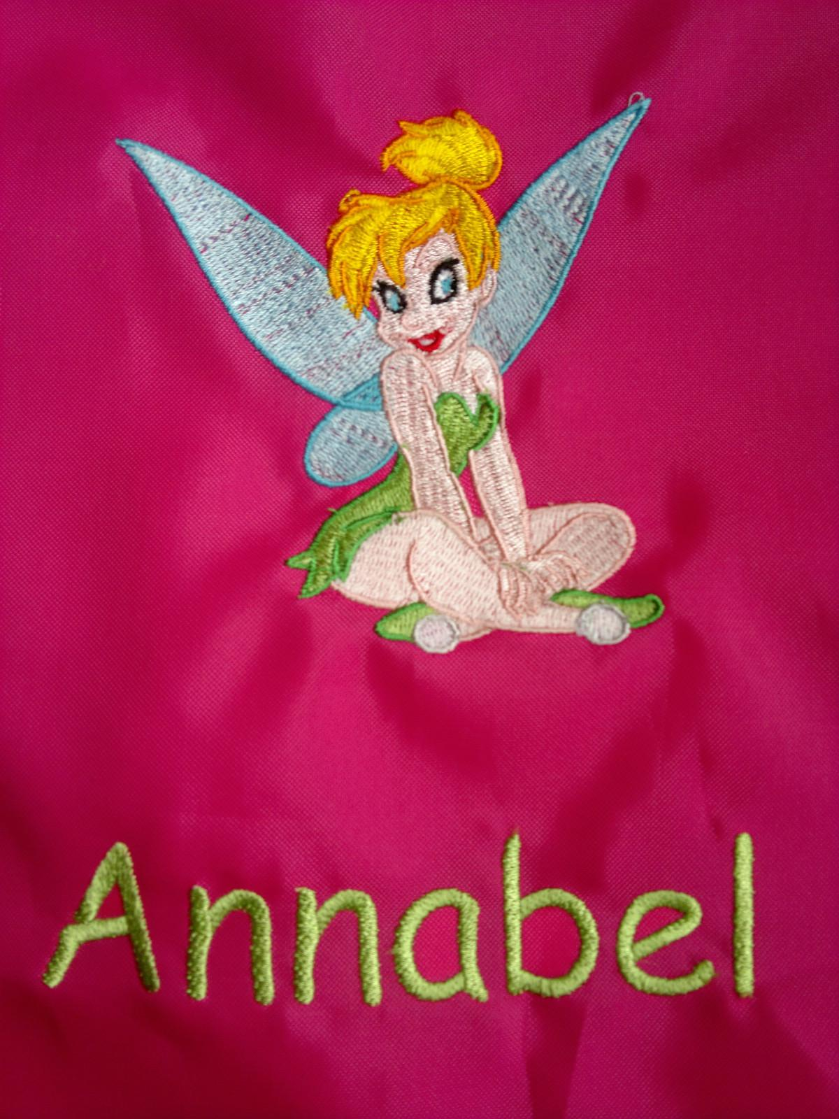 Embroidered Tinkerbell design