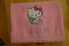 Towel with Hello Kitty Angel embroidery design