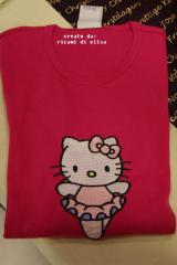 Shirt with Hello Kitty Ballerina embroidery design