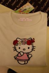 Shirt with Hello Kitty Spring embroidery design