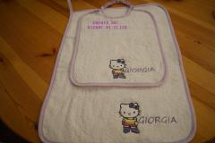 Baby bibs with Hello Kitty Forever Young embroidery design