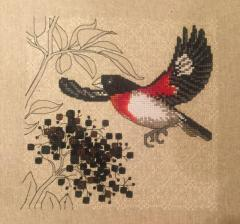 Crow cross stitch free embroidery design