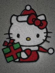 Hello Kitty Christmas embroidery design