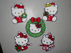Christmas set with Hello Kitty embroidery designs