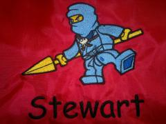 LEGO Ninjago Jay machine embroidery design