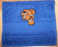 Towel with Marlin like Life embroidery design