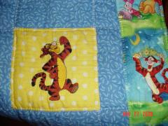 Quilt with Tigger machine embroidery design