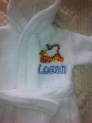 Pajama with Tigger Resting machine embroidery design