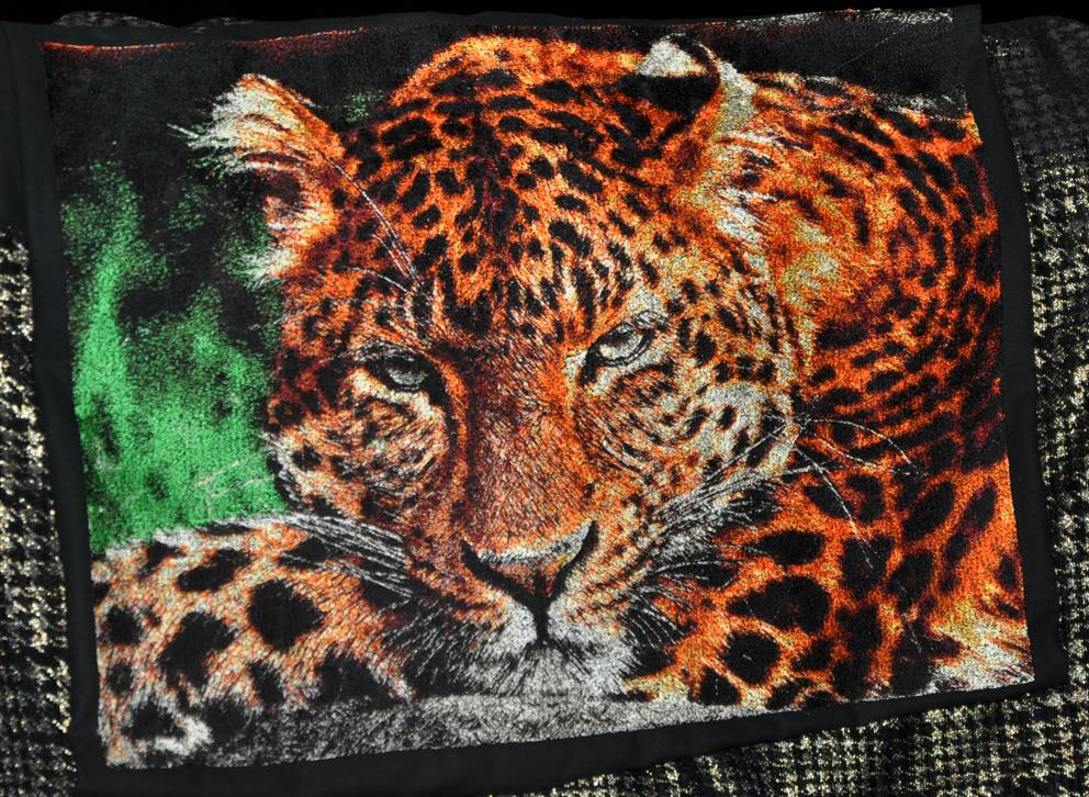 Leo free photo stitch embroidery design