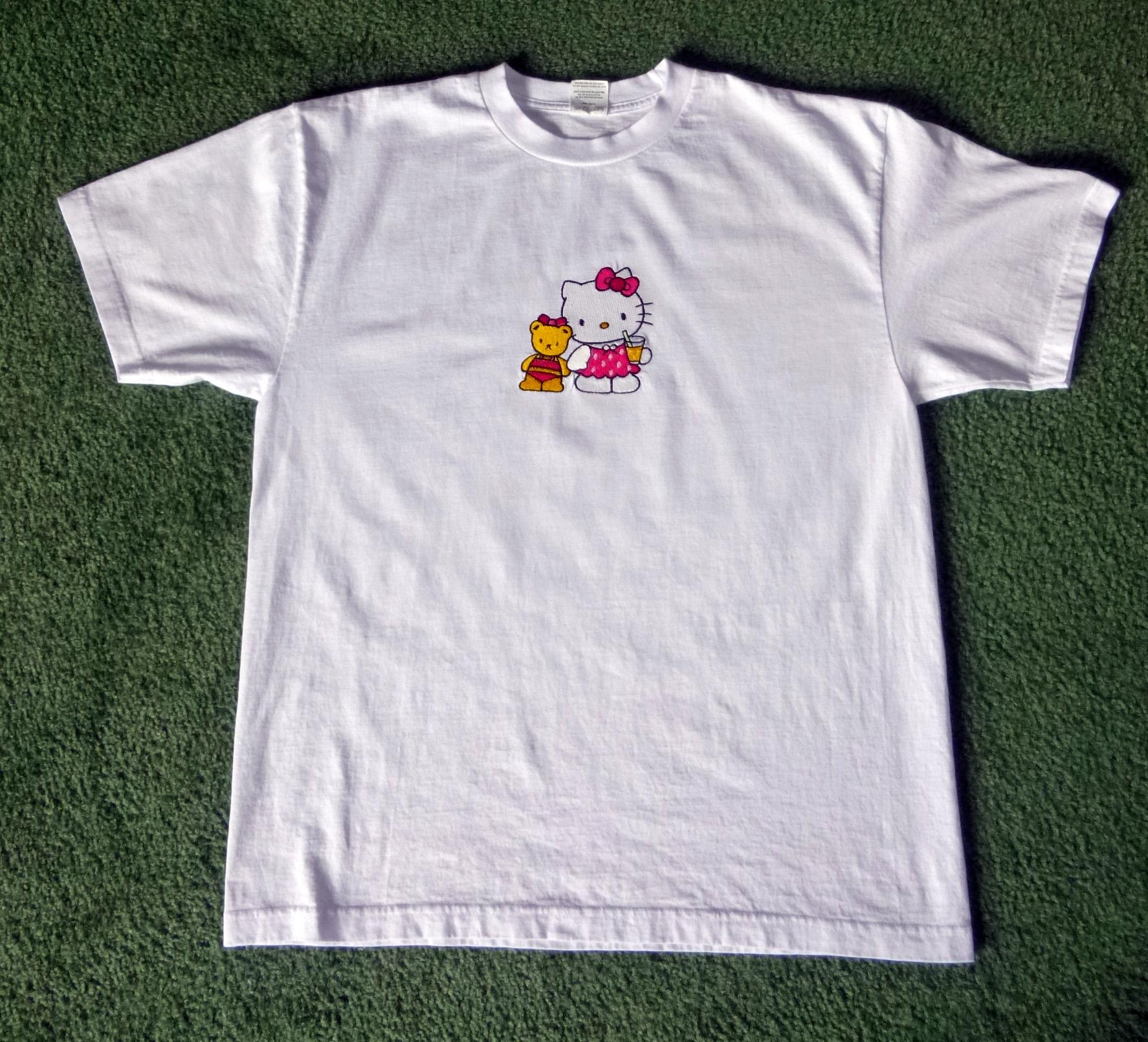 Baby shirt Hello Kitty We are Friends embroidery design