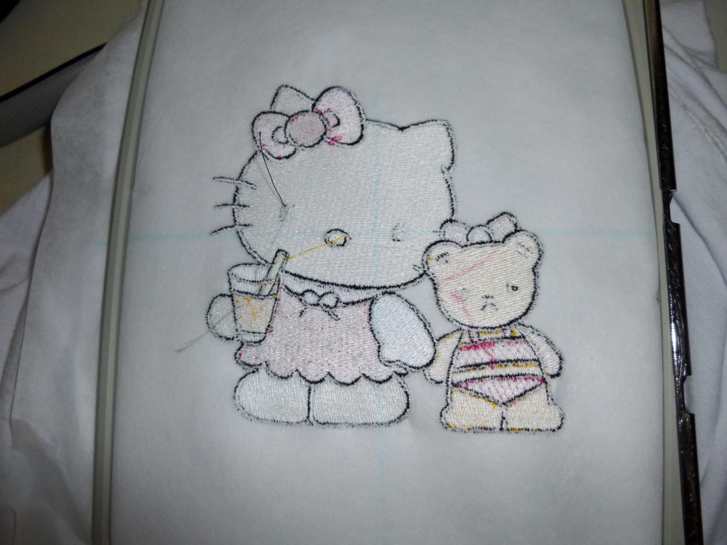 in hoop back side Hello Kitty We are Friends embroidery design