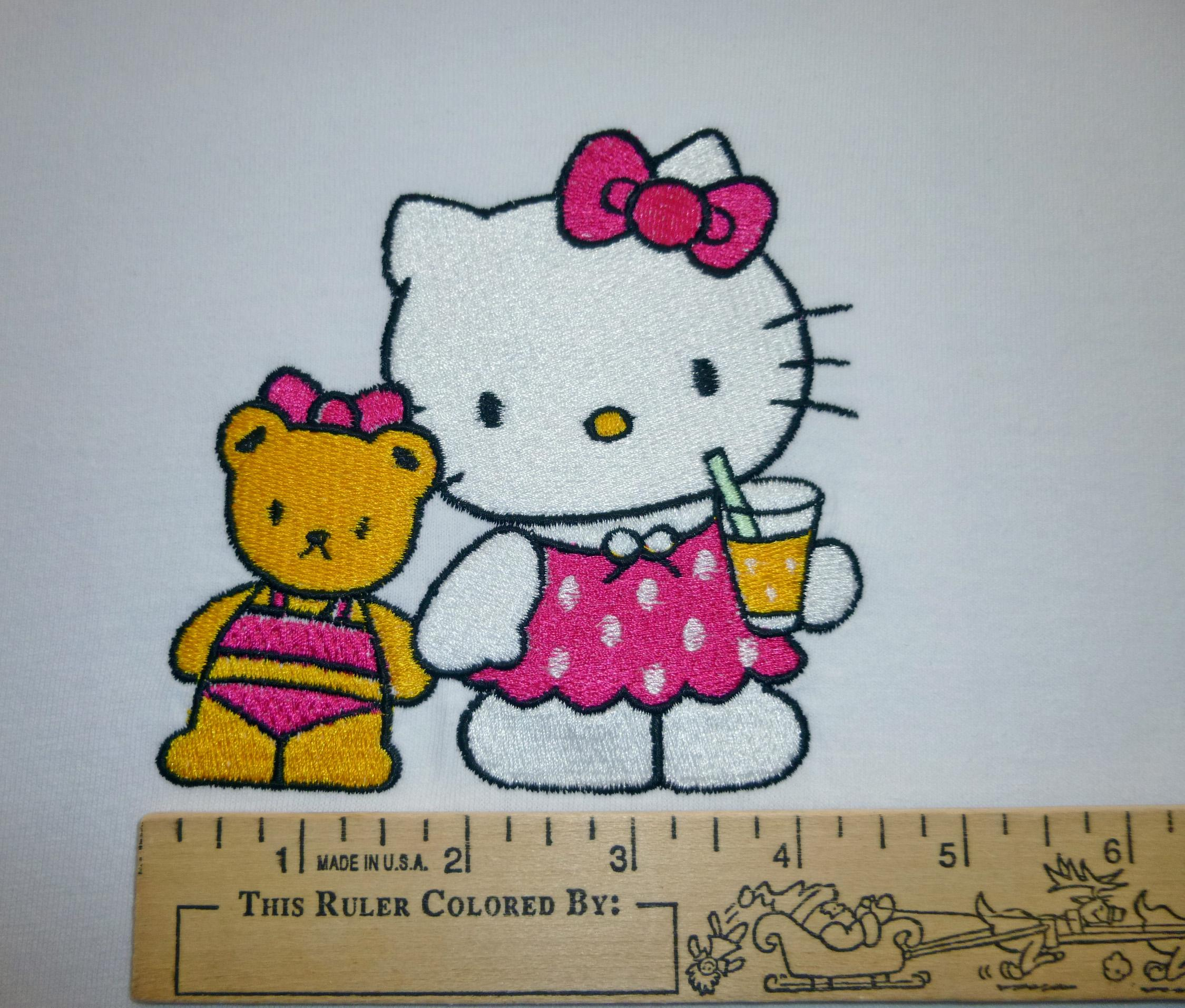 Hello Kitty We are Friends embroidery design