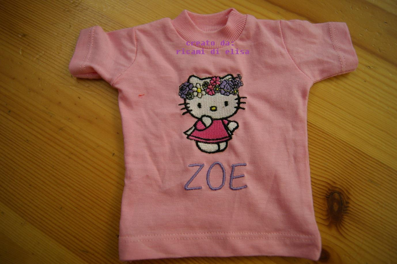 Baby outfit with Hello Kitty Spring embroidery design